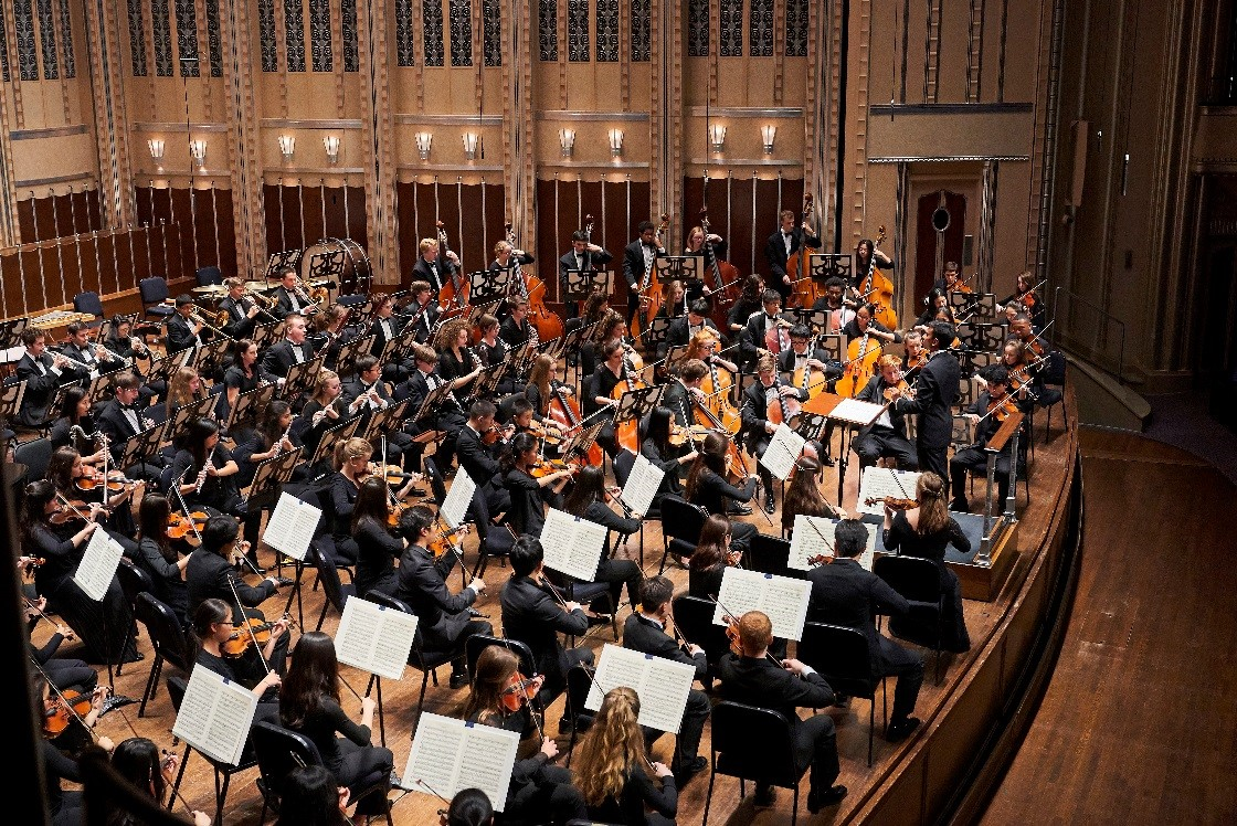 cleveland orchestra youth orchestra conducted by vinay parameswaran