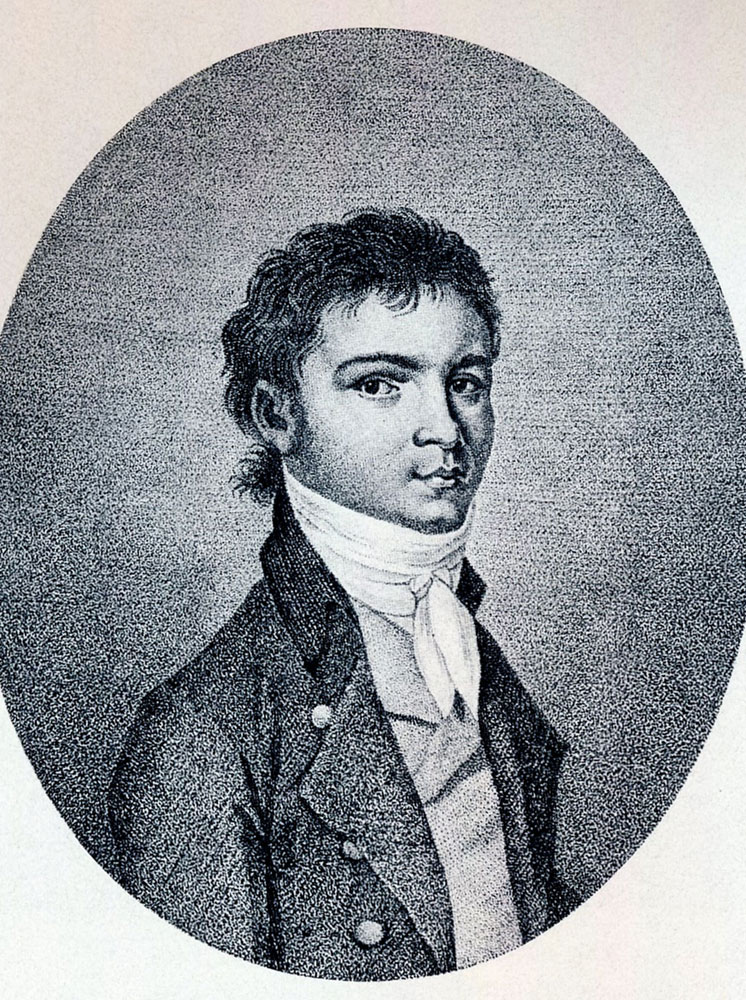 Portrait of Beethoven as a young man.