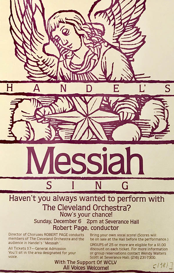 "Ad for 1981 ""Sing Messiah!"""