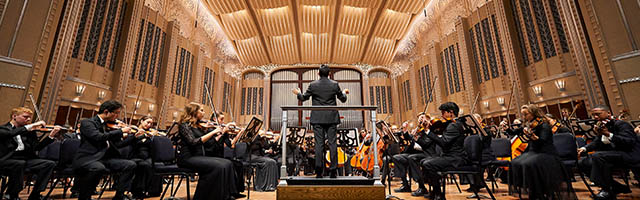 Cleveland Orchestra Youth Orchestra in concert playing