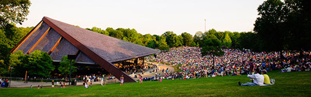 Blossom music center lawn