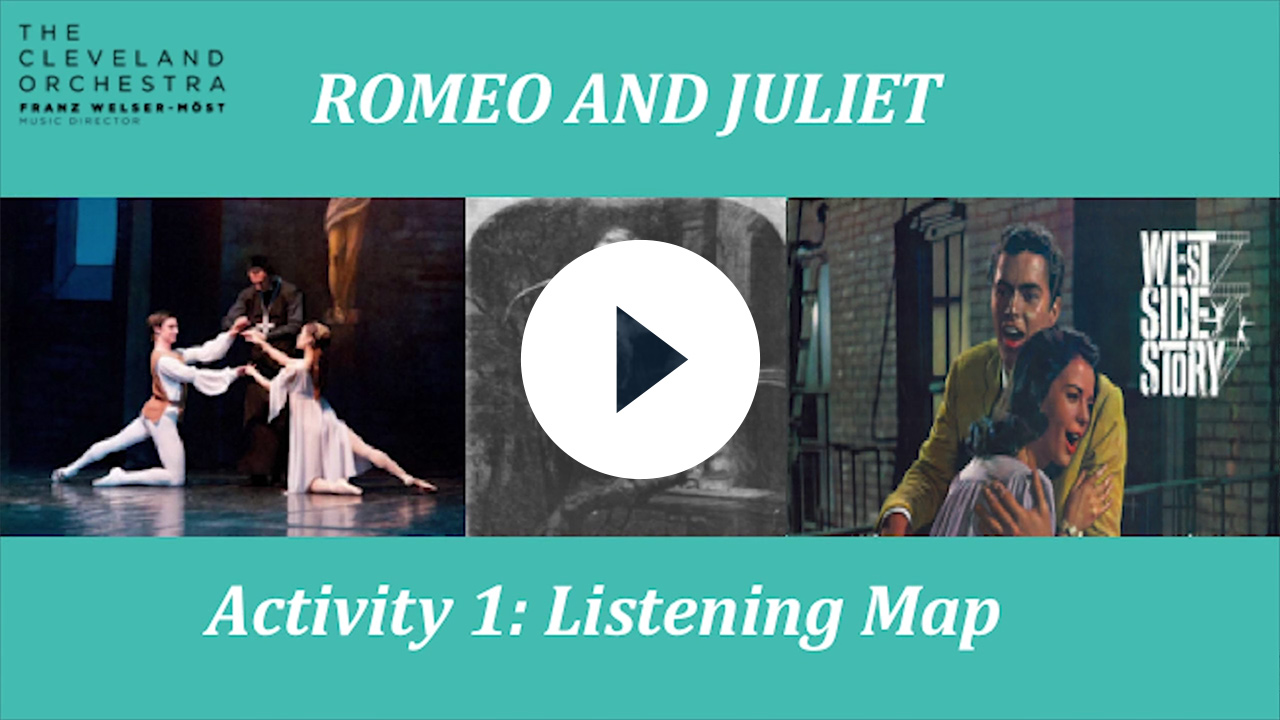 Romeo and Juliet Listening Map (Grades 6-8)